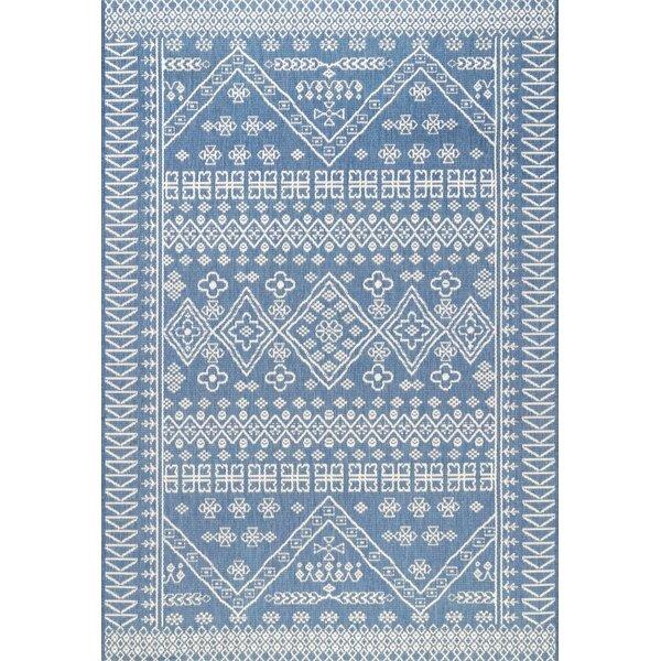 Zahara Blue Indoor/Outdoor Area Rug by Union Rustic