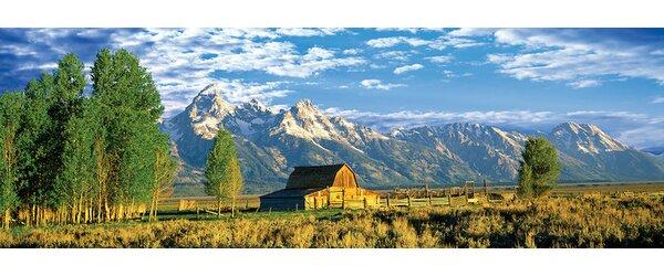 John Moulton Barn I, Mormon Row Historic District, Grand Teton National Park, Jackson Hole Valley, Teton County, Wyoming, USA Photographic Print on Wrapped Canvas by East Urban Home