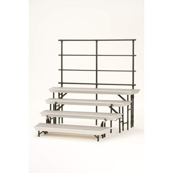 Guard Rails for 4-Level TransPort Riser by National Public Seating