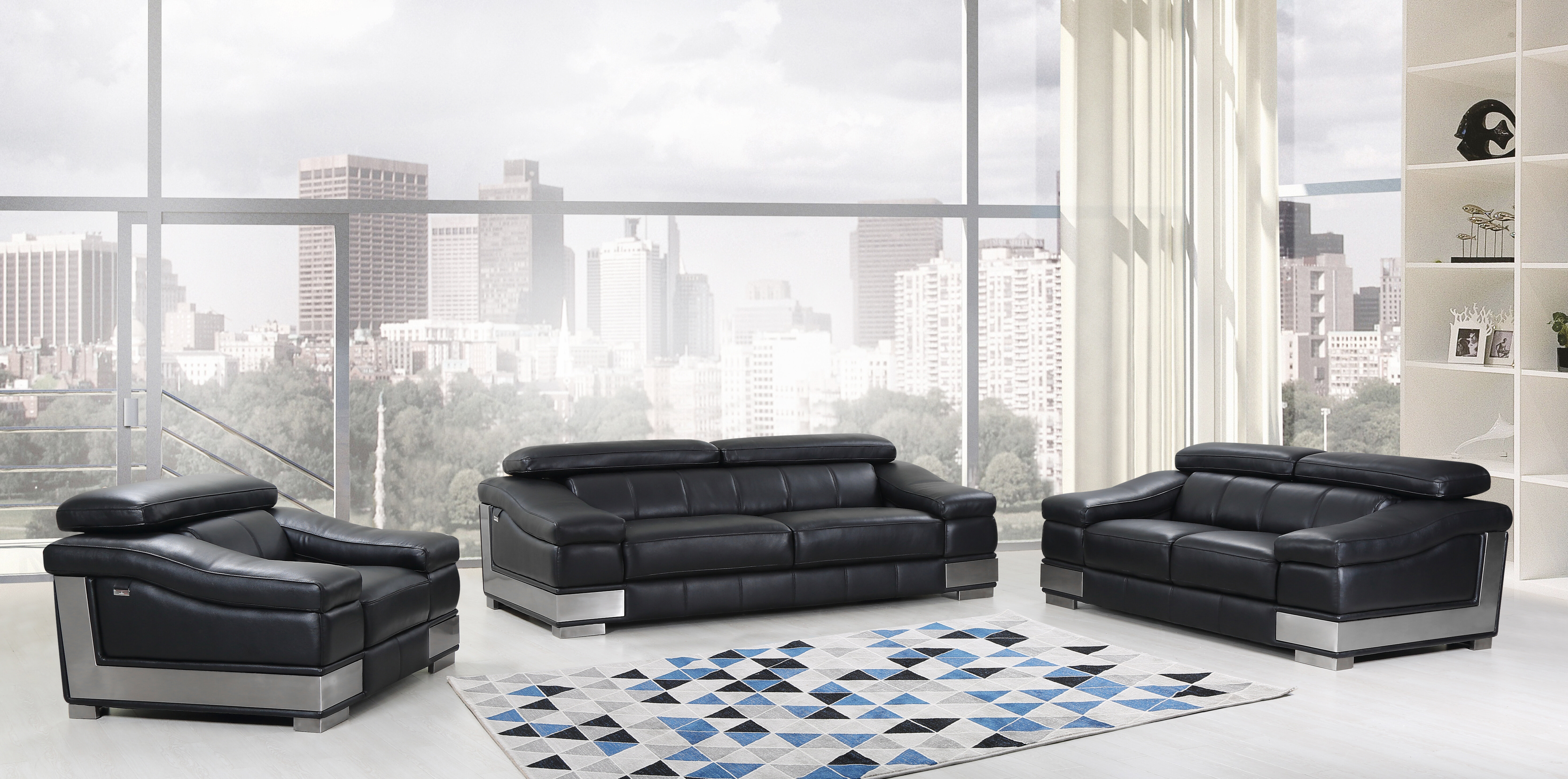 Hawkesbury Common 3 Piece Leather Living Room Set