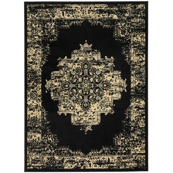 Susan Black Indoor Area Rug by Charlton Home