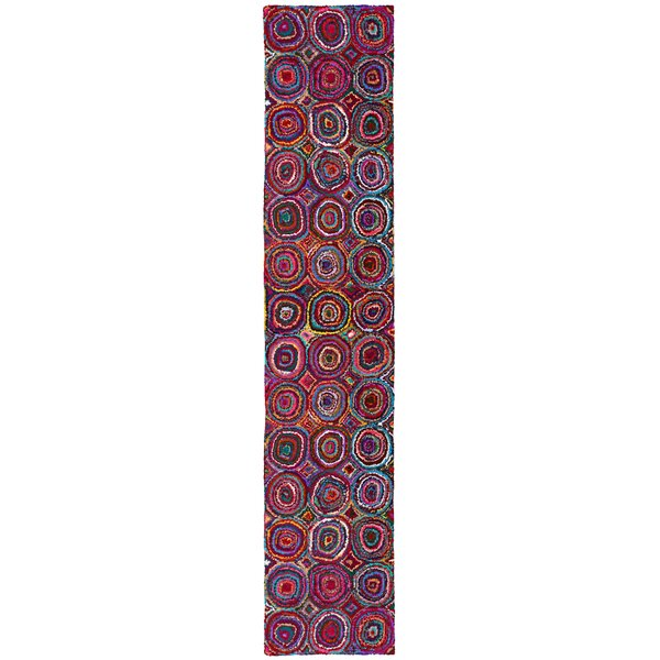 Sandford Hand Woven Cotton Purple/Red/Blue Area Rug by Bungalow Rose