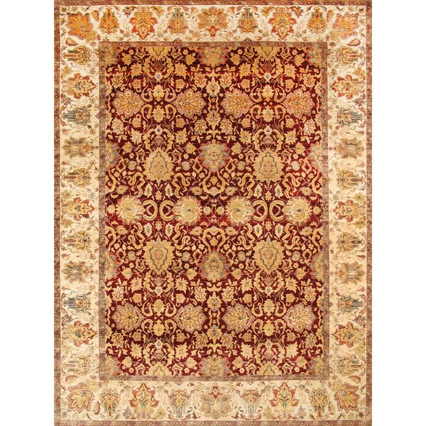 Agra Hand-Knotted Red Area Rug by Pasargad