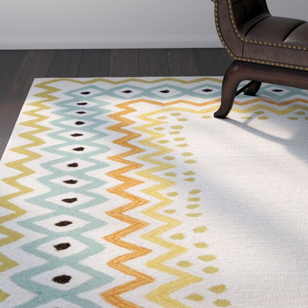 Bahri Pastel Border Indoor/Outdoor Area Rug by Ebern Designs