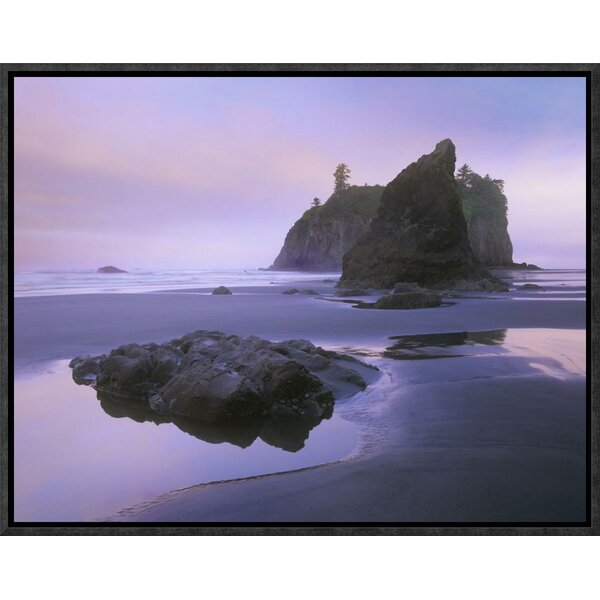 Ruby Beach with Seastacks and Boulders, Olympic National Park, Washington by Tim Fitzharris Framed Photographic Print on Canvas by Global Gallery