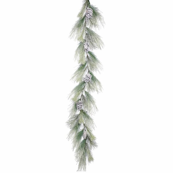 Frosted Norway Pine Artificial Christmas Garland Unlit by Darby Home Co