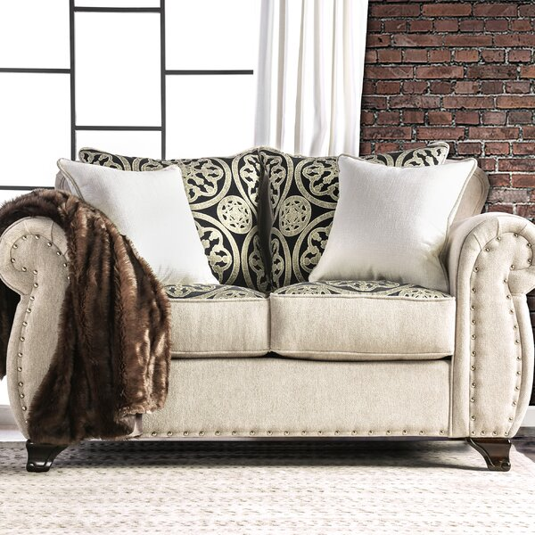 High Quality Burcham Contemporary Loveseat by Darby Home Co by Darby Home Co