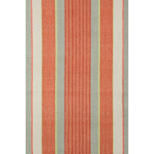 Hand Woven Orange Area Rug by Dash and Albert Rugs