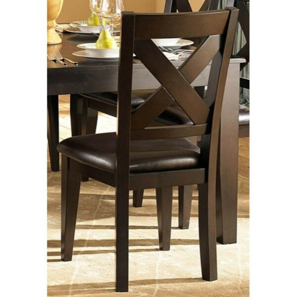 Beaird Leatherette Upholstered Dining Chair (Set of 2) by Darby Home Co