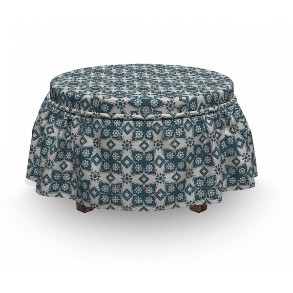 Old Motifs And Star Flowers Ottoman Slipcover (Set Of 2) By East Urban Home