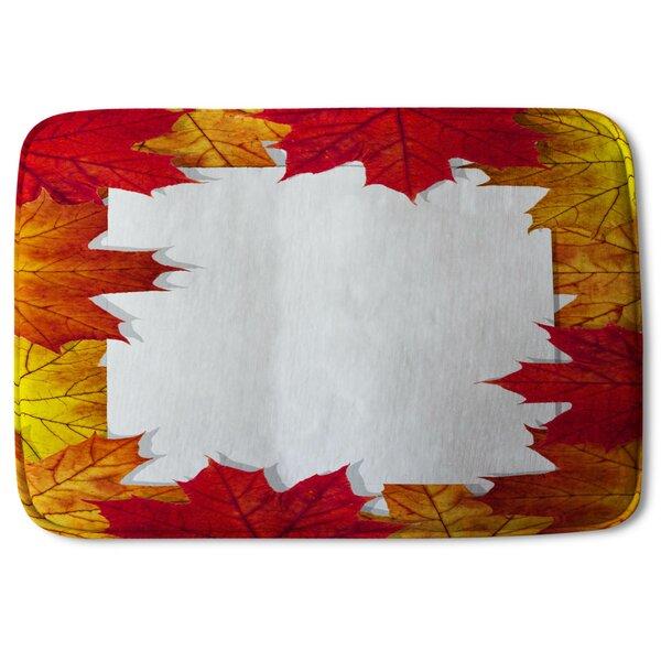 Whittlebury Autumn Border Designer Bath Rug