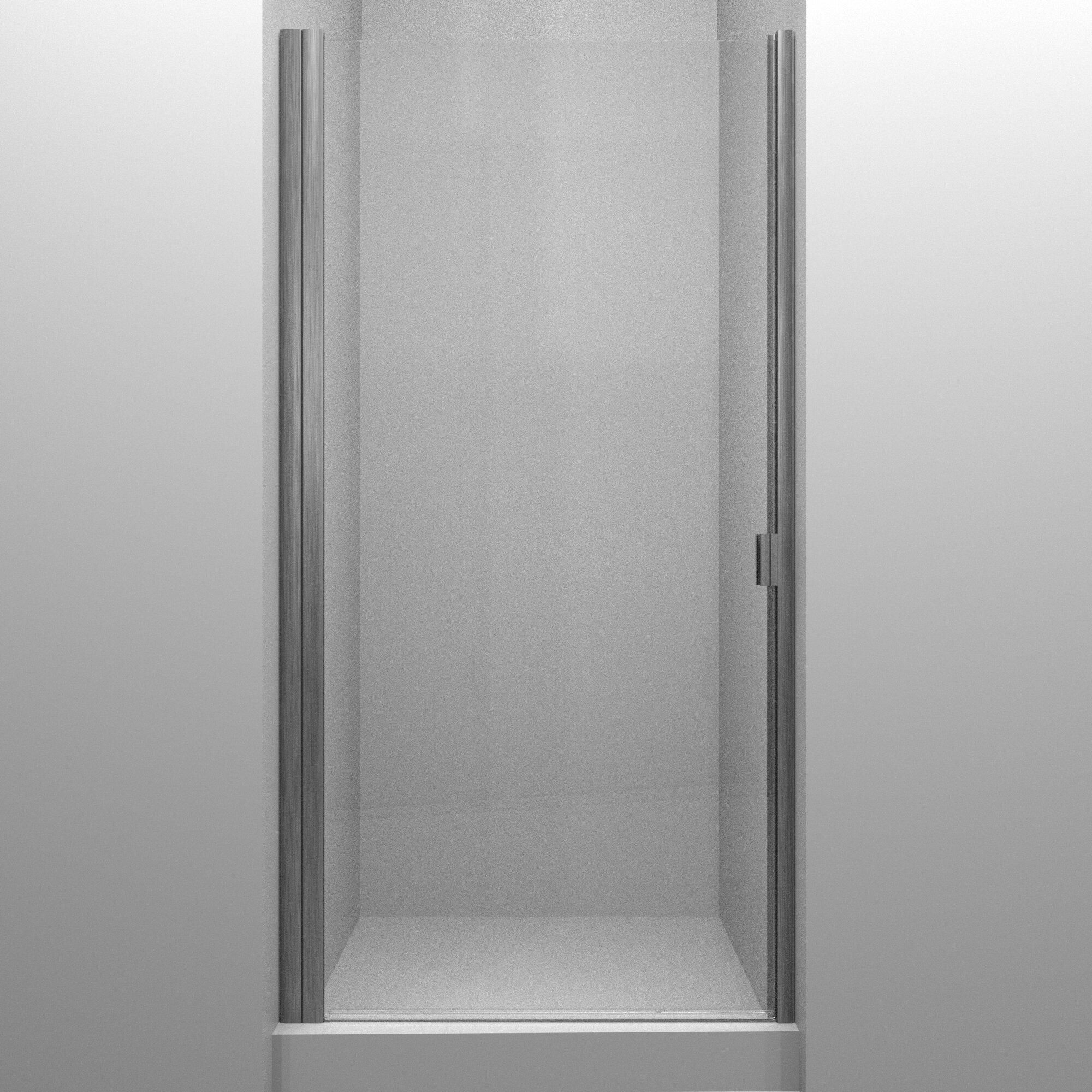 Rd Swinging 27 X 66 Hinged Semi Frameless Shower Door