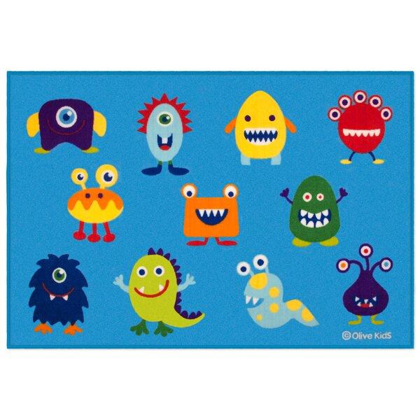Olive Kids Monsters Blue Area Rug by Wildkin