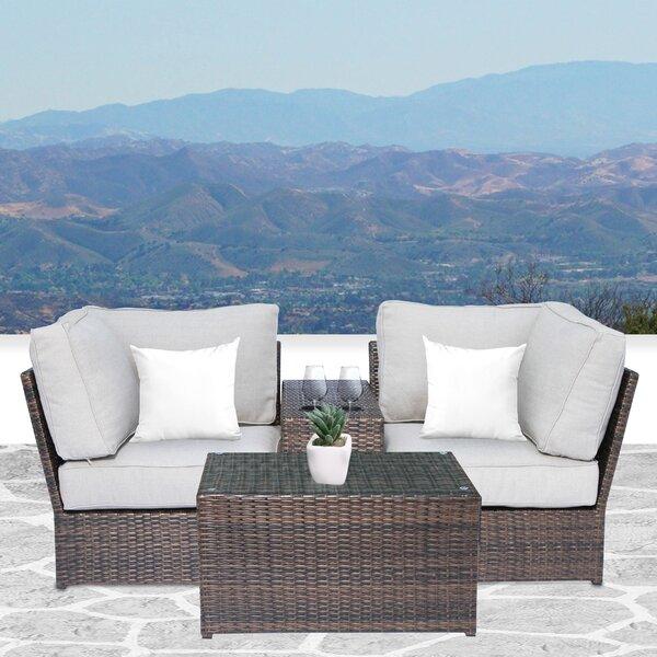 Simmerman 4 Piece Conversation Set with Cushions by Brayden Studio