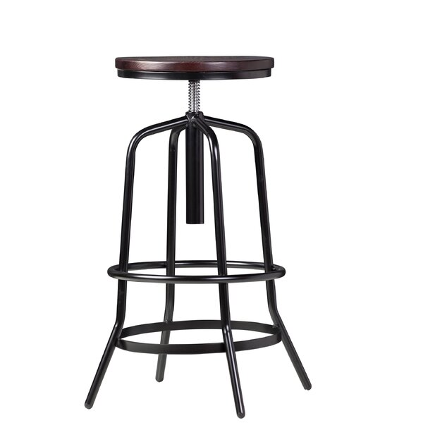 Rashon Adjustable Height Swivel Bar Stool by 17 Stories