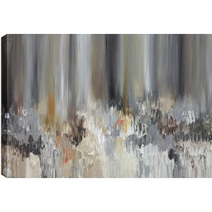 Brown Pond Abstract' by Sanjay Patel Painting Print on Wrapped Canvas by Hobbitholeco.