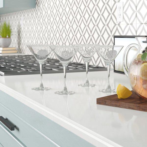 Brampton 7.25 oz. Assortment Martini Glass (Set of 4) by Beachcrest Home