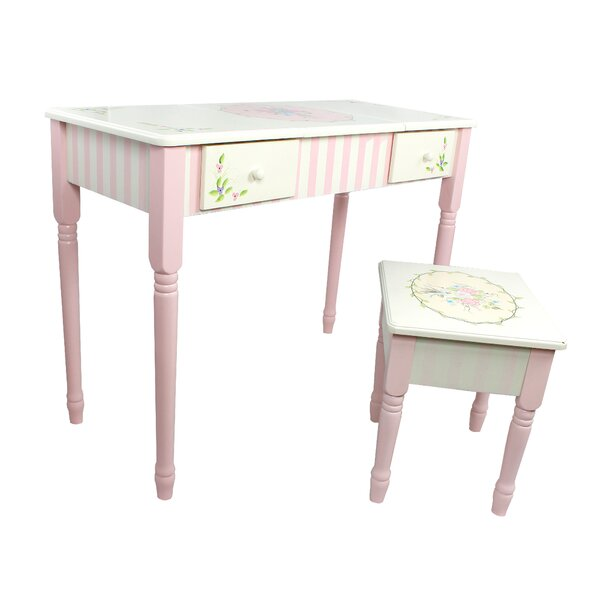 Bouquet Vanity Table & Stool Set by Fantasy Fields