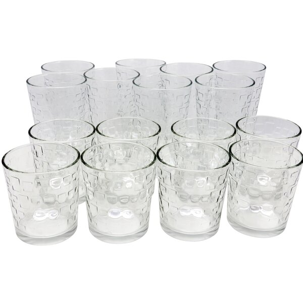 Senna 16 Piece Glass Every Day Glass Set by Highland Dunes