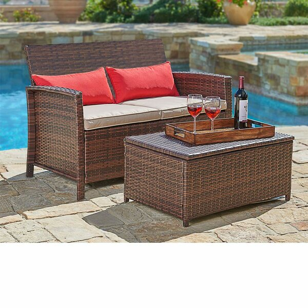 Burnette 2 Piece Sofa Seating Group with Cushions by Longshore Tides
