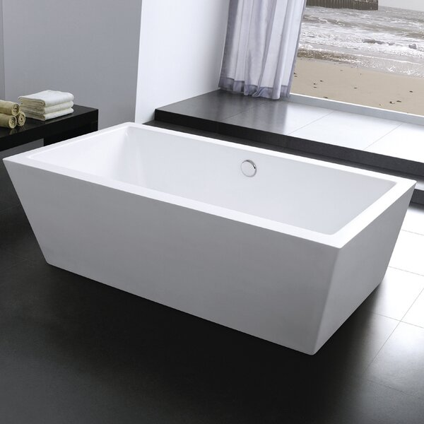 Squadra 71 x 29.5 Freestanding Soaking Bathtub by Morenobath