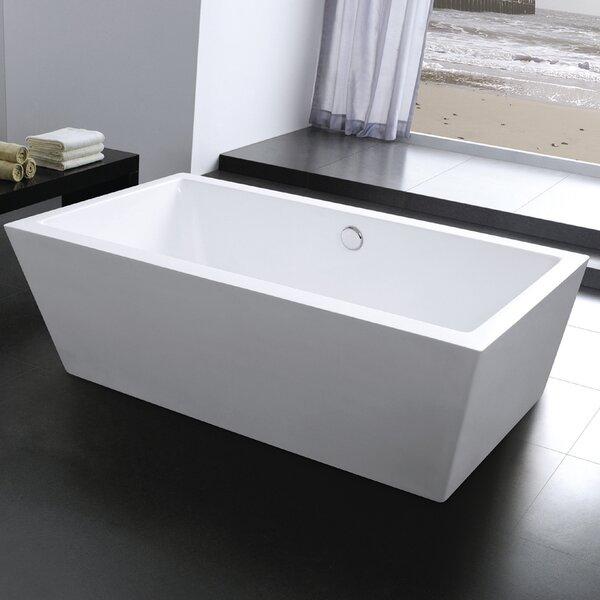 Squadra 71 x 29.5 Freestanding Soaking Bathtub by Morenobath