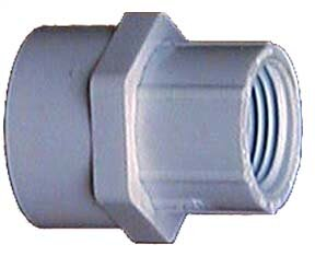 3/4 x 1/2 PVC Sch. 40 Reducing Female Adapter (Set of 10) by GenovaProducts
