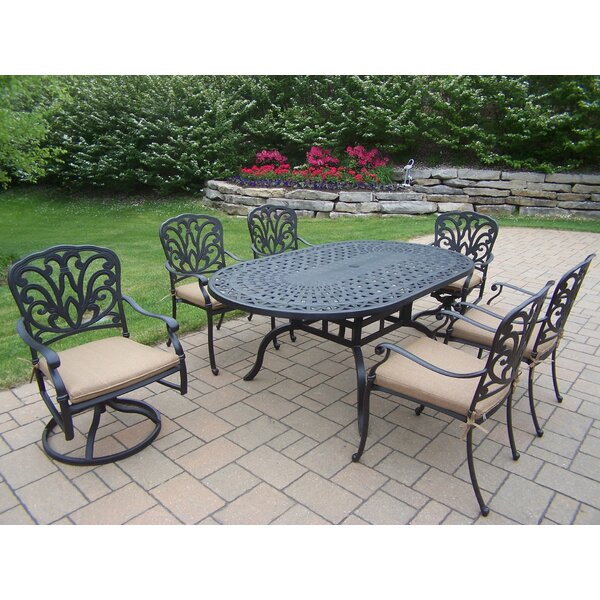 Bosch Powder Coated 7 Piece Dining Set with Cushions by Darby Home Co