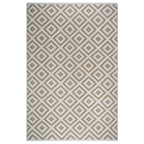Markowski Hand-Woven Almond/White Indoor/Outdoor Area Rug by Gracie Oaks