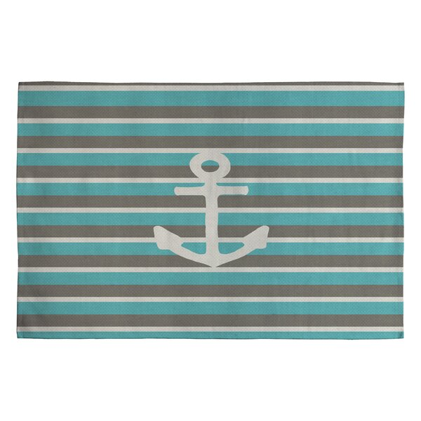 Bianca Green Anchor 1 Novelty Area Rug by Deny Designs