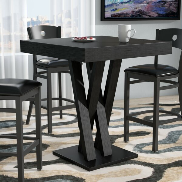 Hodder Bar Height Solid Wood Dining Table by Zipcode Design