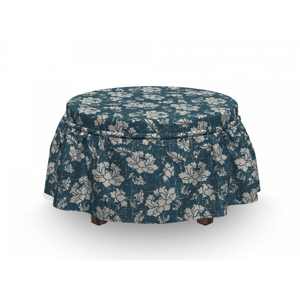 Botanic Garden Illustration Ottoman Slipcover (Set Of 2) By East Urban Home