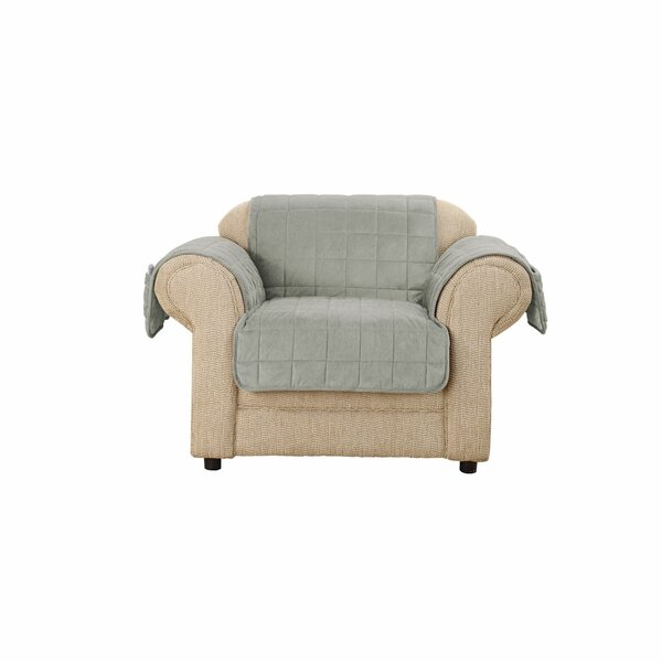 Deep Pile Box Cushion Armchair Slipcover by Sure Fit