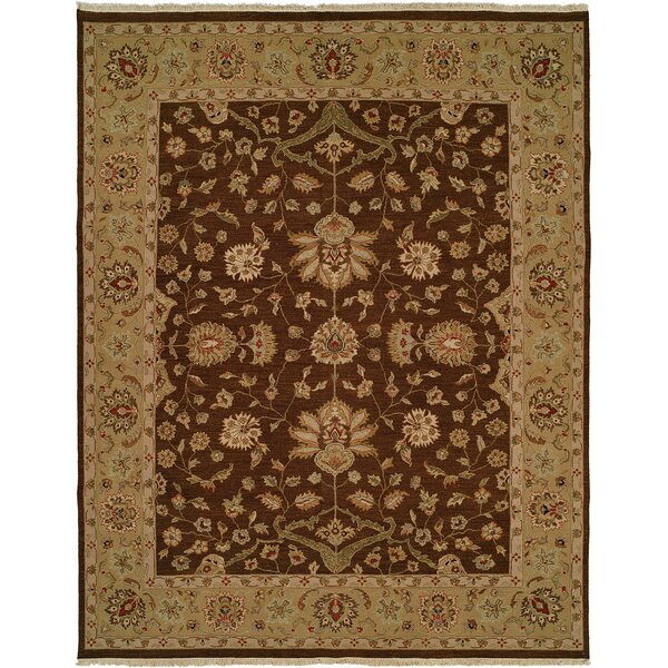 Dhenkanal Hand-Knotted Brown / Gold Area Rug by Meridian Rugmakers
