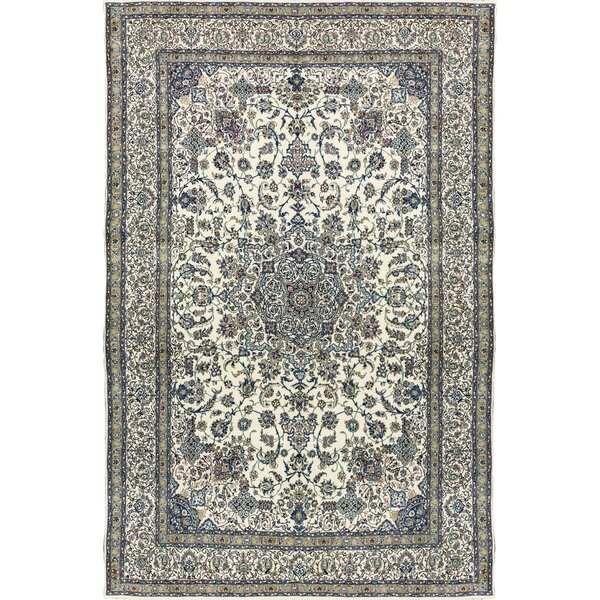 One-of-a-Kind Hand-Knotted Wool Beige/Navy Indoor Area Rug by Bokara Rug Co., Inc.