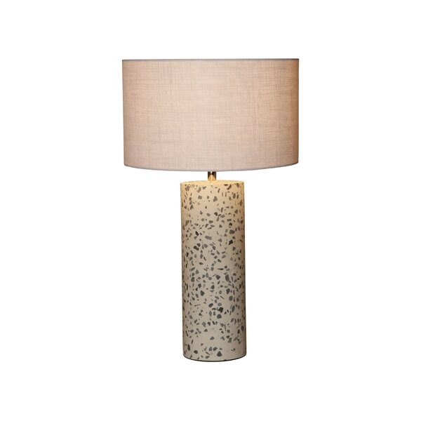 Lagunitas Stone Inlay Concrete 20 Table Lamp by World Menagerie