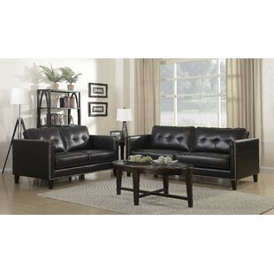 Glen View Leather Loveseat