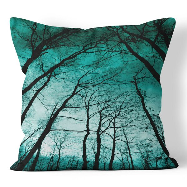 Teal Forest Throw Pillow by Ziya Blue