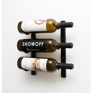 3 Bottle Metal Wall Mounted Wine Rack by VintageView