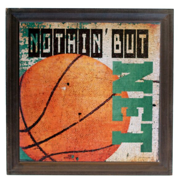 Wood Basketball Sign Graphic Art by American Mercantile