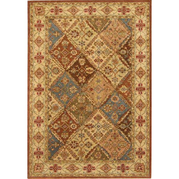 Balthrop Beige Floral Area Rug by Astoria Grand