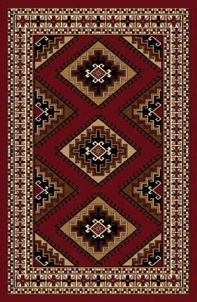 Edinburgh Red/Beige/Brown Area Rug by Fleur De Lis Living