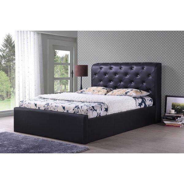 Upholstered Platform Bed by Hodedah