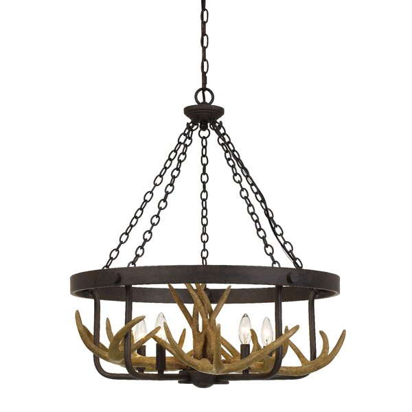 Linhart 5-Light Candle Style Wagon Wheel Chandelier By Millwood Pines
