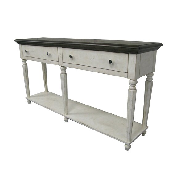 One Allium Way White Console Tables