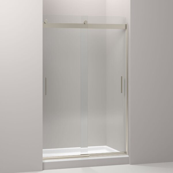 Levity 47.63 x 74 Double Sliding Shower Door with Blade Handles with CleanCoat® Technology by Kohler