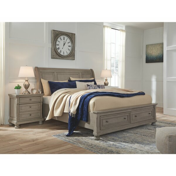 Lettner Storage Sleigh Bed by Alcott Hill