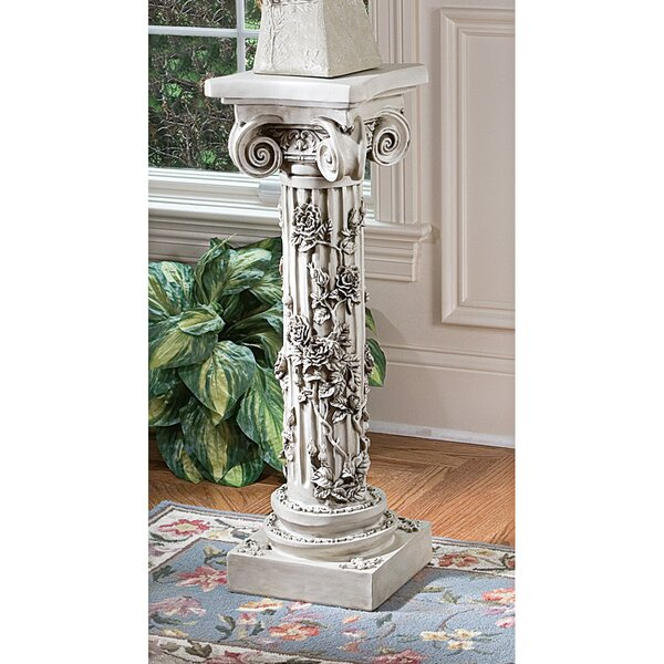 The Rose Garland Pedestal Plant Stand by Design Toscano