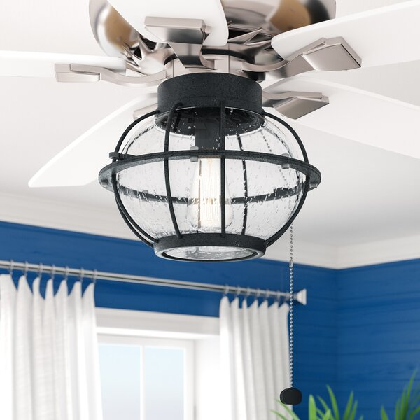 Traditional 1-Light Fitter Ceiling Fan Light Kit by Breakwater Bay