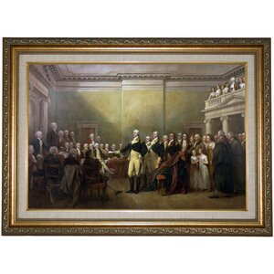 'General George Washington Resigning His Commission' Framed Print on Canvas by Historic Art Gallery
